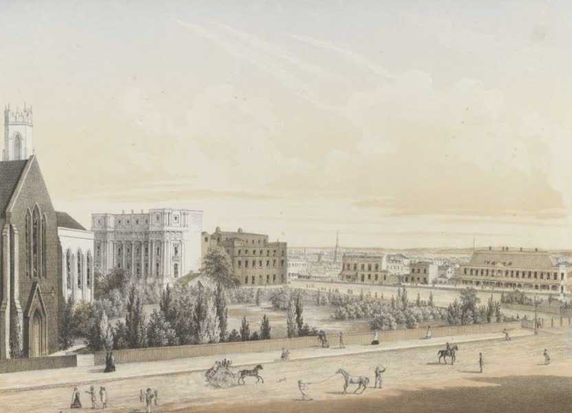 The Melbourne Album - View on Eastern Hill, from Half Way House, Albert Street) (1864)