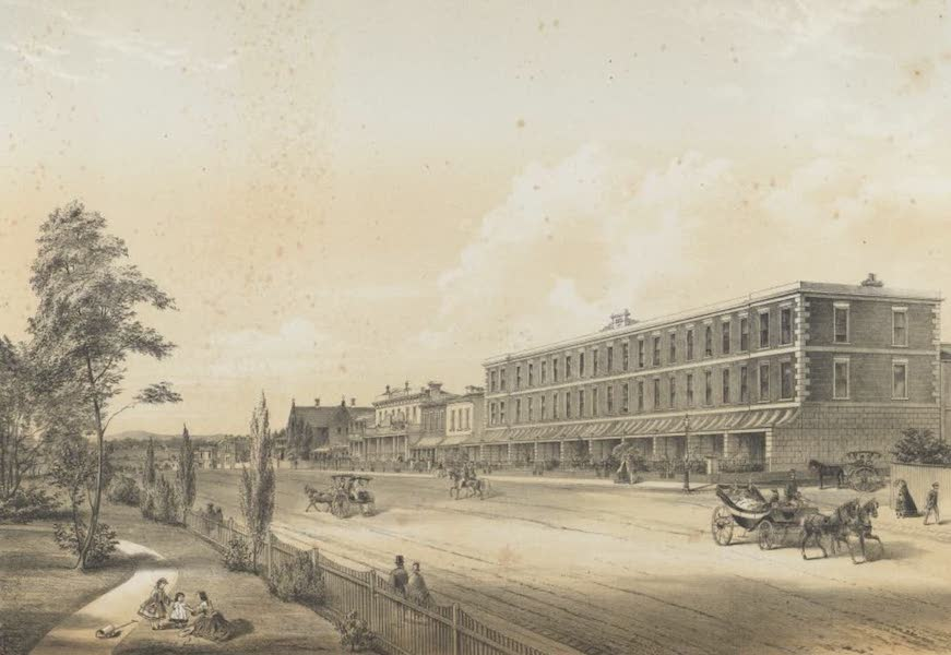 The Melbourne Album - Nicholson Street (Fitzroy) (1864)