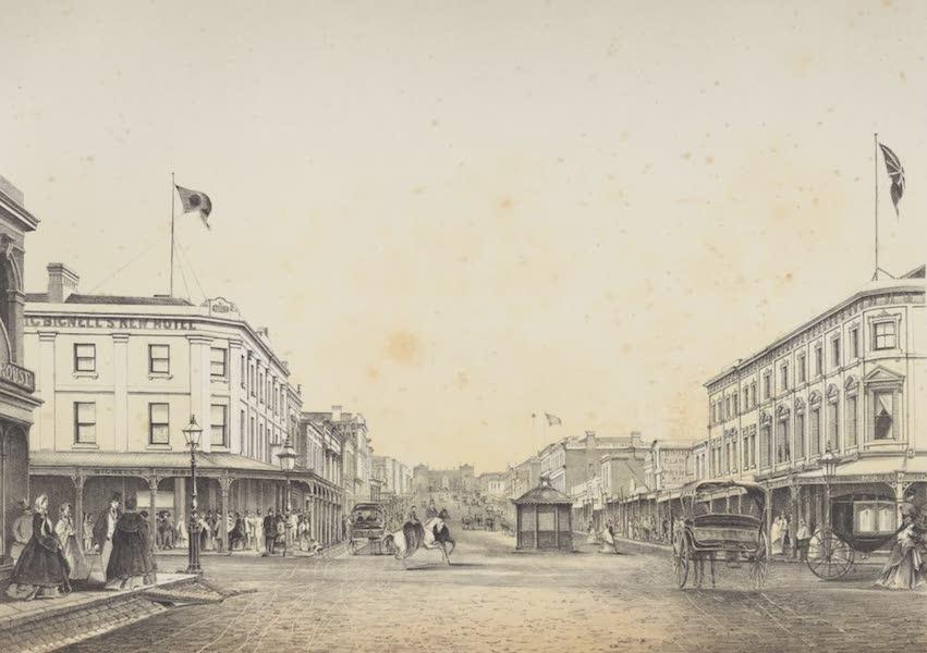 The Melbourne Album - Bourke Street (East, 1863) (1864)