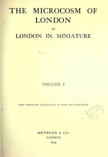 Microcosm of London Vol. 1 - Title Page (1904)