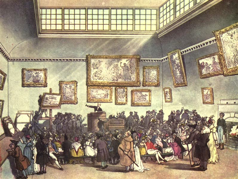 Microcosm of London Vol. 1 - 6. Christie's Auction Room. (1904)