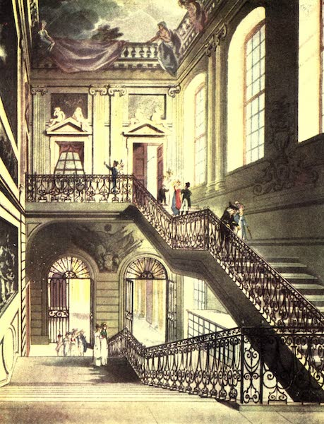 Microcosm of London Vol. 1 - 14. The Hall and Stair Case, British Museum. (1904)