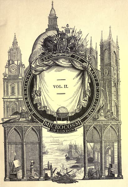 Microcosm of London Vol. 2 - Illustrated Title Page (1904)
