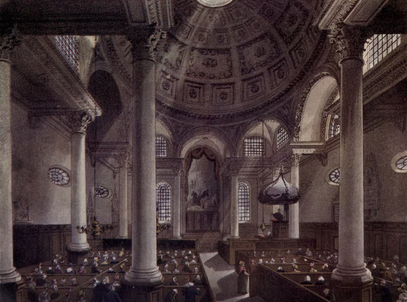 Microcosm of London Vol. 3 - 90. St. Stephen's Walbrook. (1904)