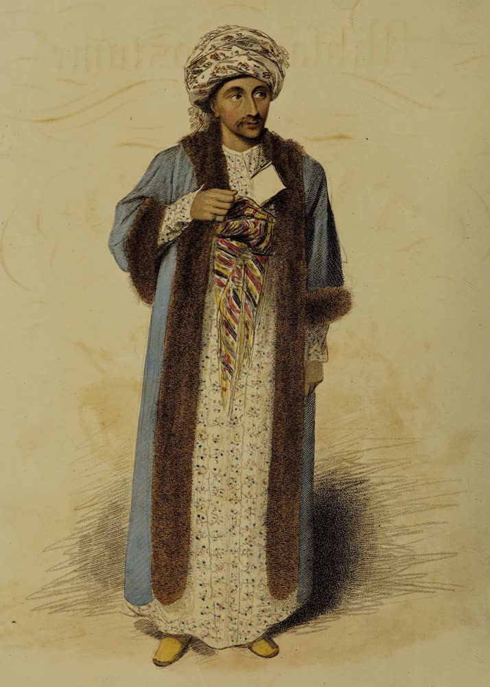 The Military Costume of Turkey - His Excellency Antonaki Ramadani, Minister of the Ottoman Porte to his Britannic Majesty (1818)