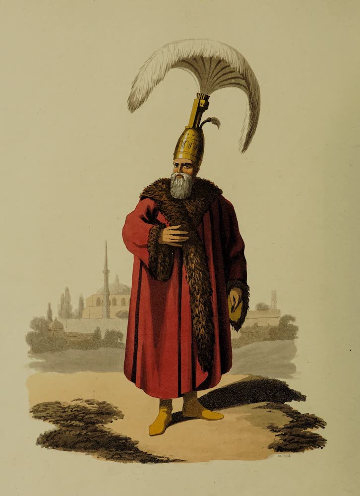 The Military Costume of Turkey - Capidgi Bachi (1818)