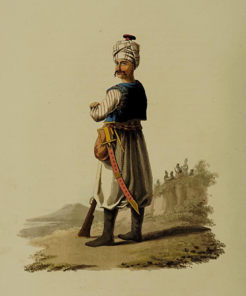 The Military Costume of Turkey - Janissary No. 1 (1818)