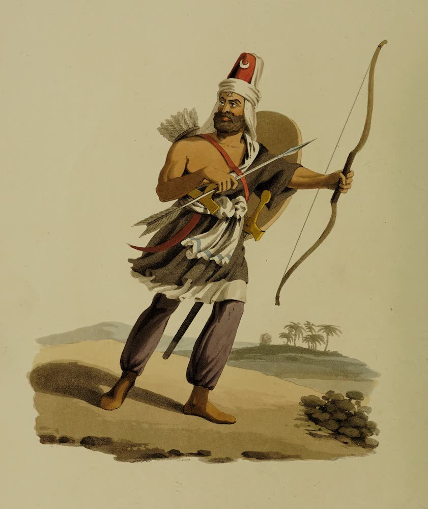 The Military Costume of Turkey - Janissary of Arabia Felix (1818)
