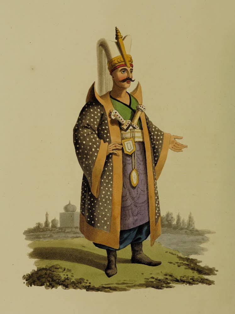 The Military Costume of Turkey - Colonel of Janissaries (1818)