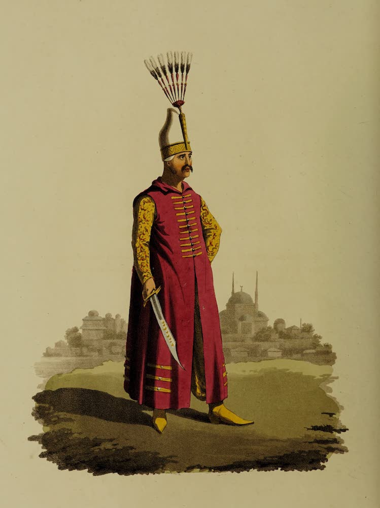 The Military Costume of Turkey - Officer of Janissaries (1818)