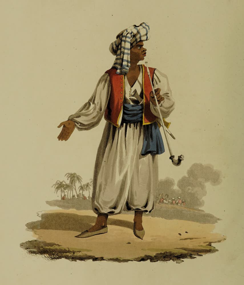 The Military Costume of Turkey - Military Chief of Upper Egypt (1818)