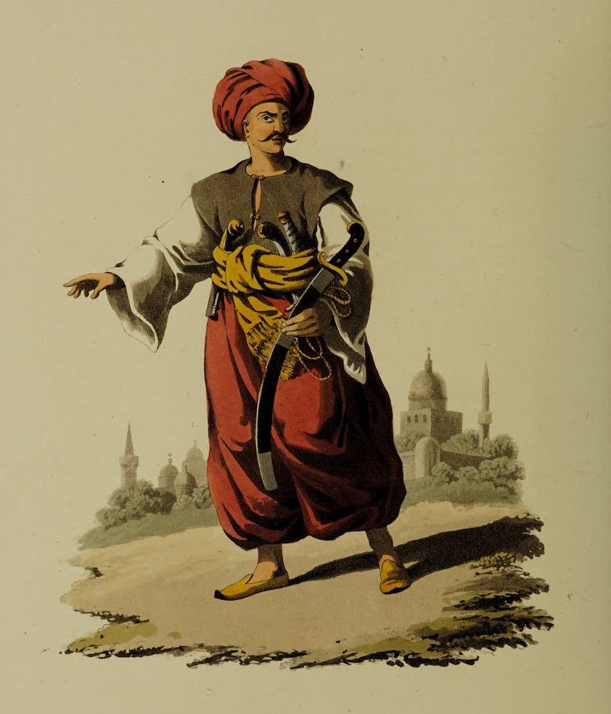 The Military Costume of Turkey - Mameluke of Egypt (1818)