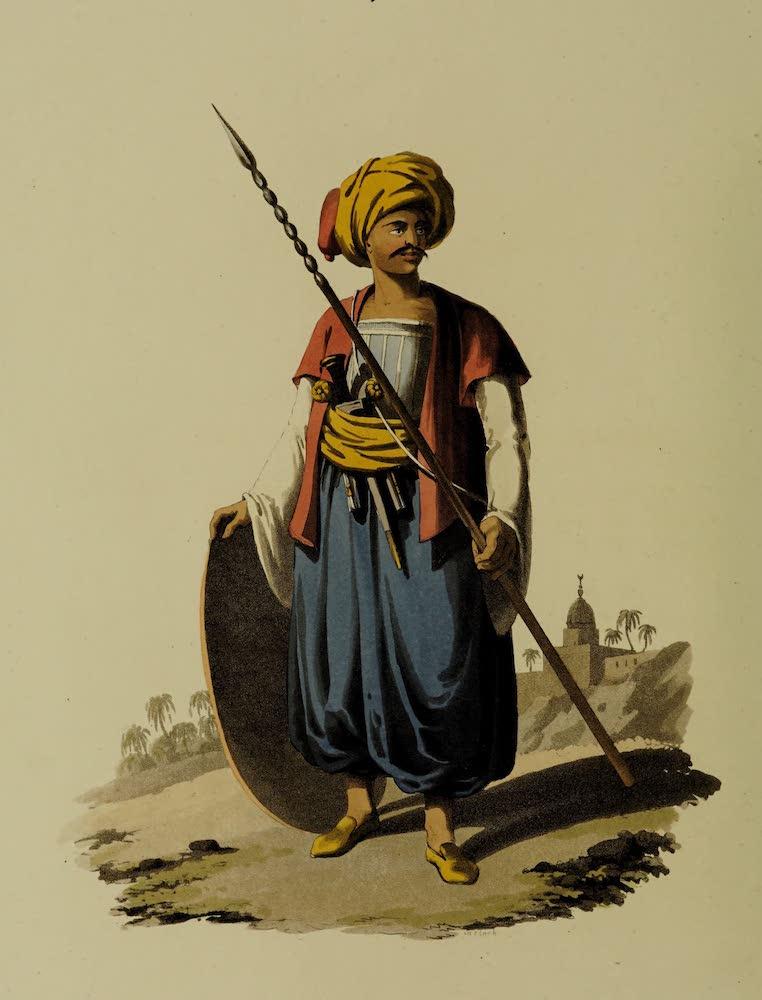 The Military Costume of Turkey - Mameluke of the Grand Vizier (1818)