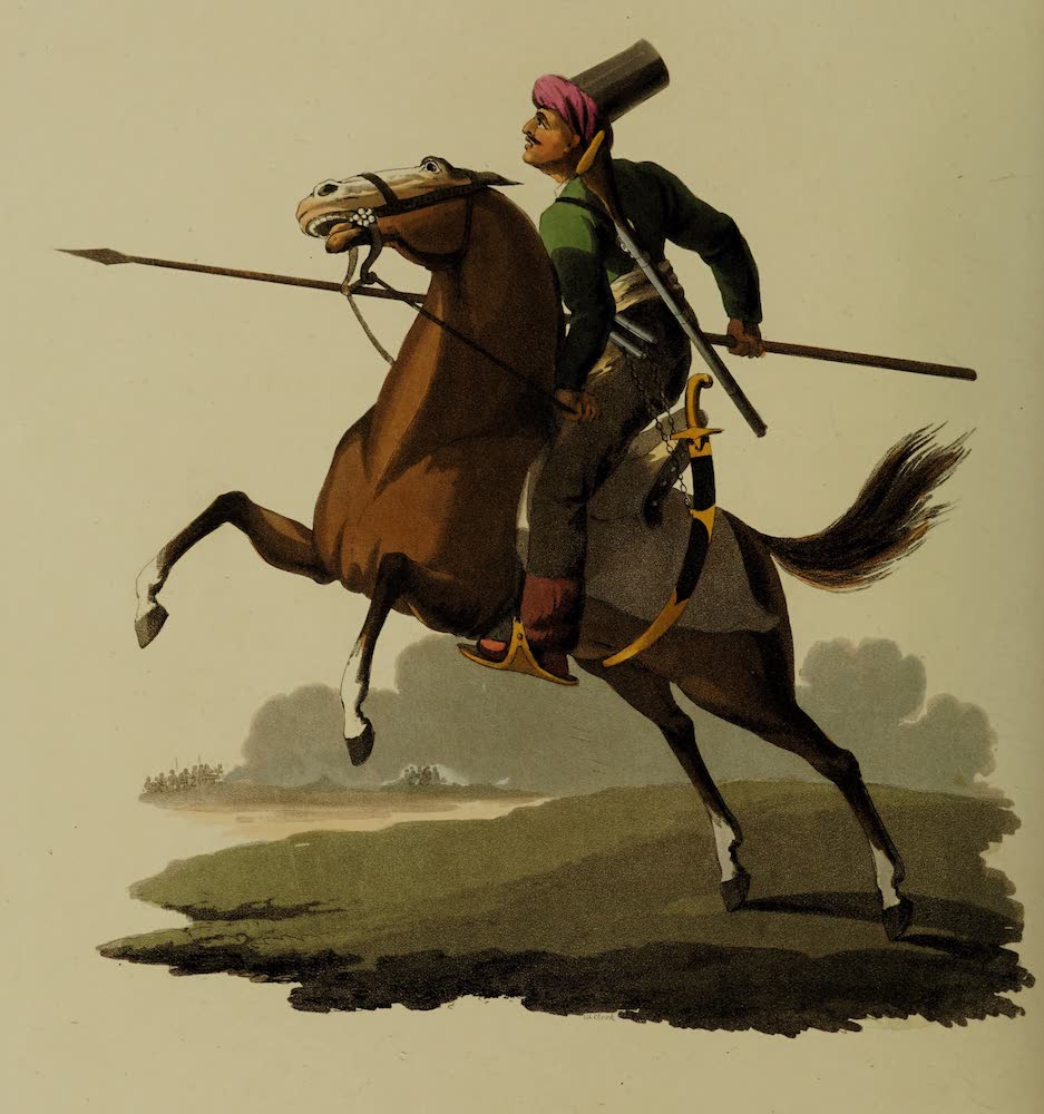 The Military Costume of Turkey - Cavalry (1818)
