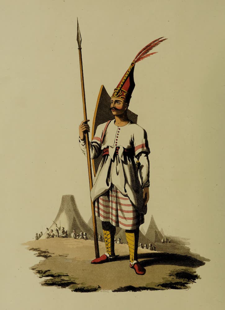 The Military Costume of Turkey - Officer of Spahis (1818)