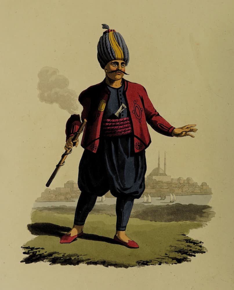 The Military Costume of Turkey - Soldier of Turkish Artillery (1818)