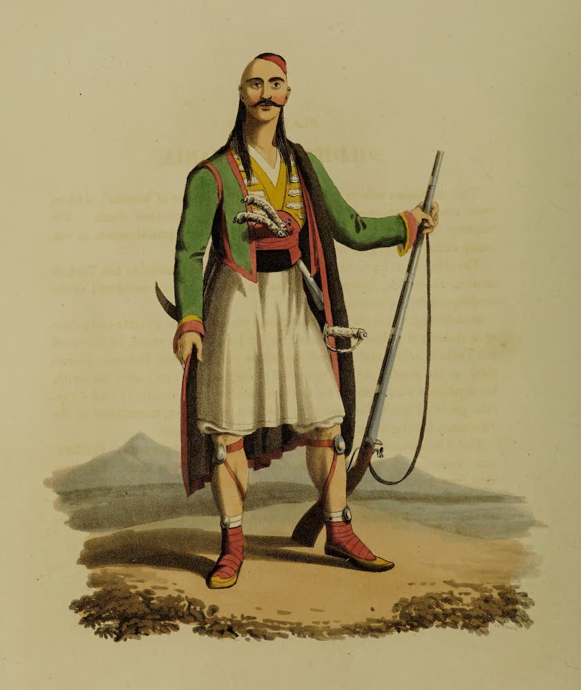 The Military Costume of Turkey - Soldier of Albania (1818)