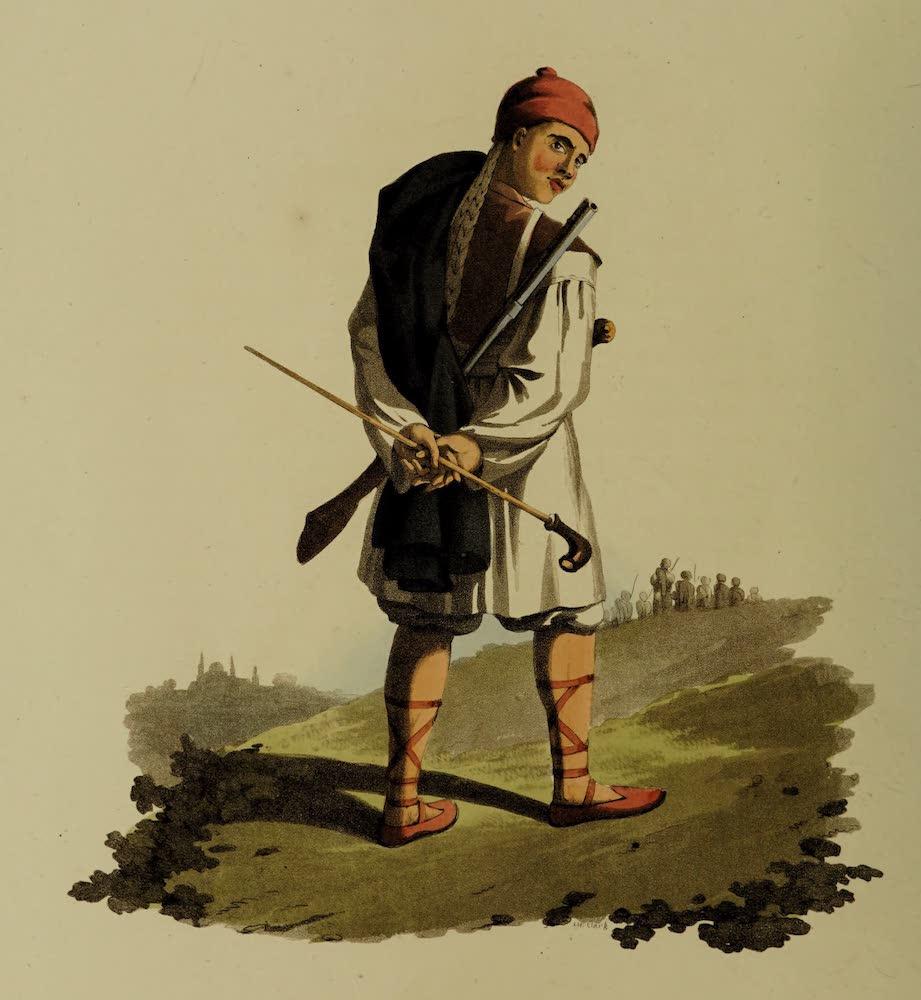 The Military Costume of Turkey - Arnaut Soldier (1818)