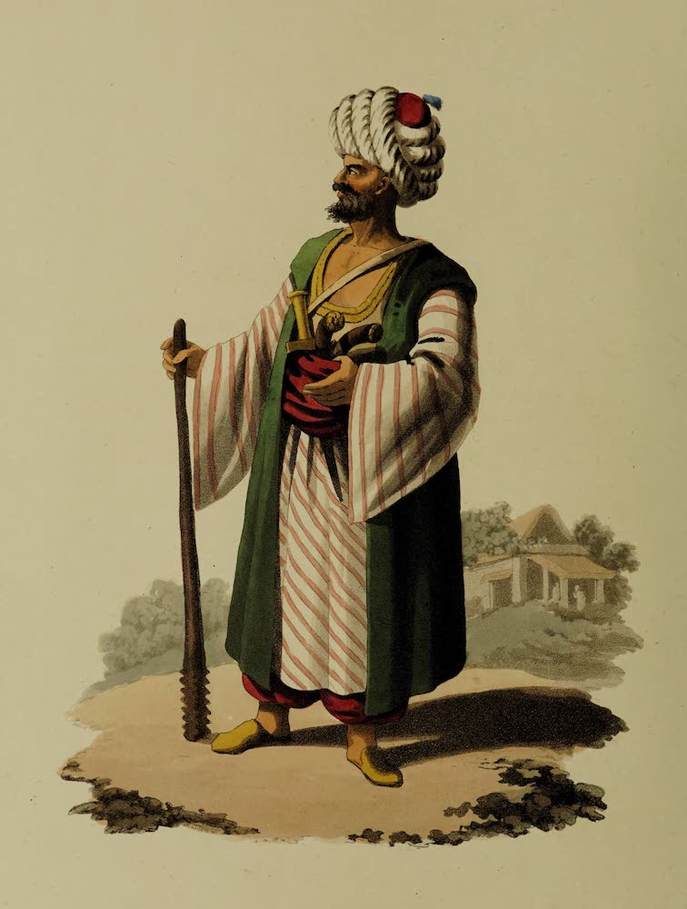 The Military Costume of Turkey - Caramanian Soldier (1818)