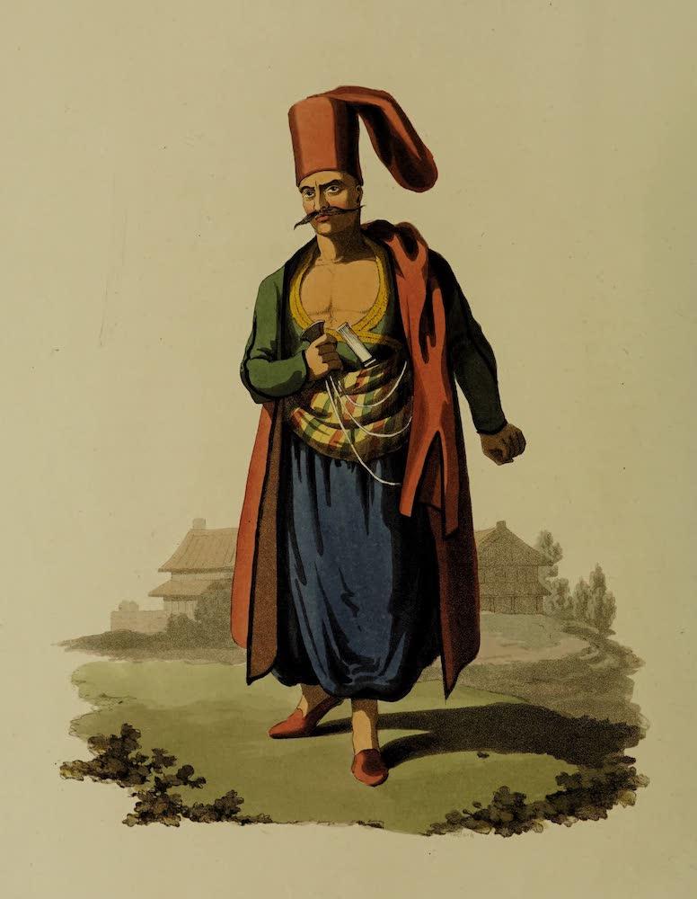 The Military Costume of Turkey - Bostangi (1818)