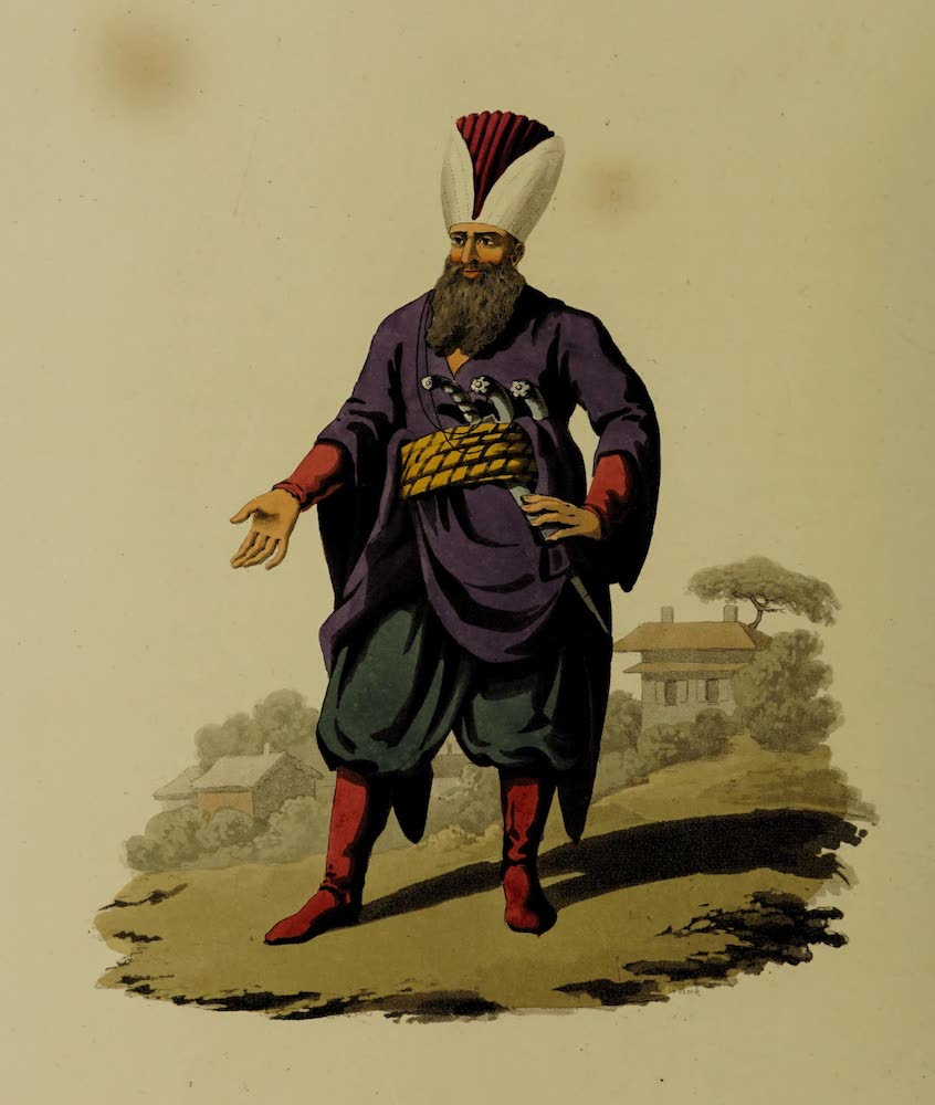 The Military Costume of Turkey - Officer of Police (1818)