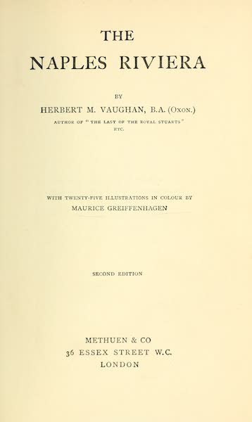 The Naples Riviera - Title Page (1908)