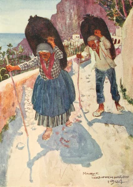 The Naples Riviera - Charcoal Carriers, Amalfi (1908)