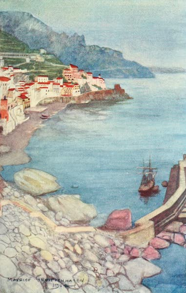 The Naples Riviera - Evening at Amalfi (1908)
