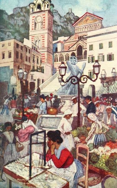 The Naples Riviera - Amalfi : Piazza and Duomo (1908)