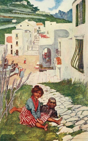 The Naples Riviera - A Street in Ravello (1908)