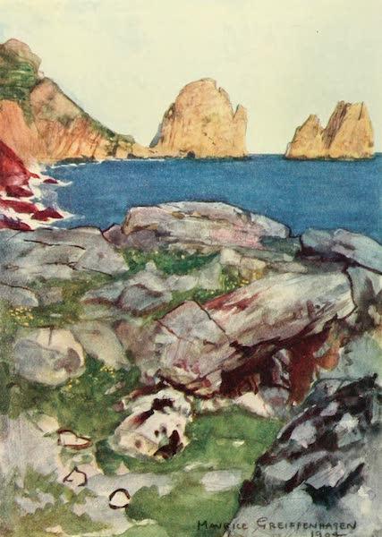 The Naples Riviera - Faraglioni Rocks, Capri (1908)