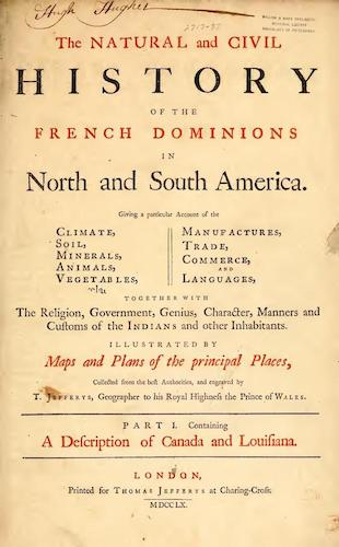 New World - The Natural and Civil History of the French Dominions