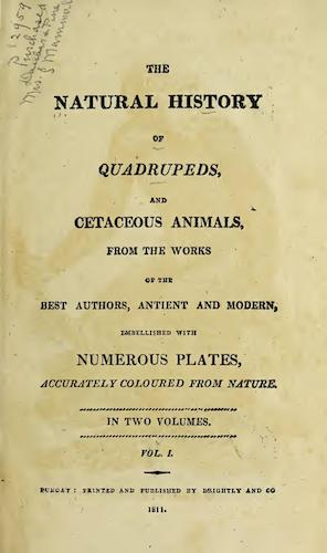 Biodiversity Heritage Library - The Natural History of Quadrupeds Vol. 1