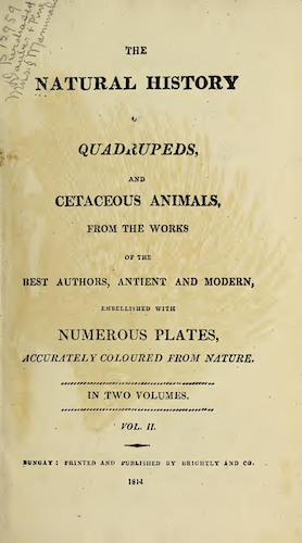 Biodiversity Heritage Library - The Natural History of Quadrupeds Vol. 2