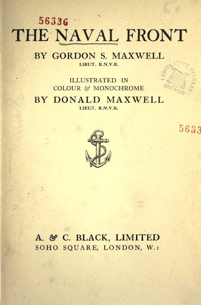 The Naval Front - Title Page (1920)