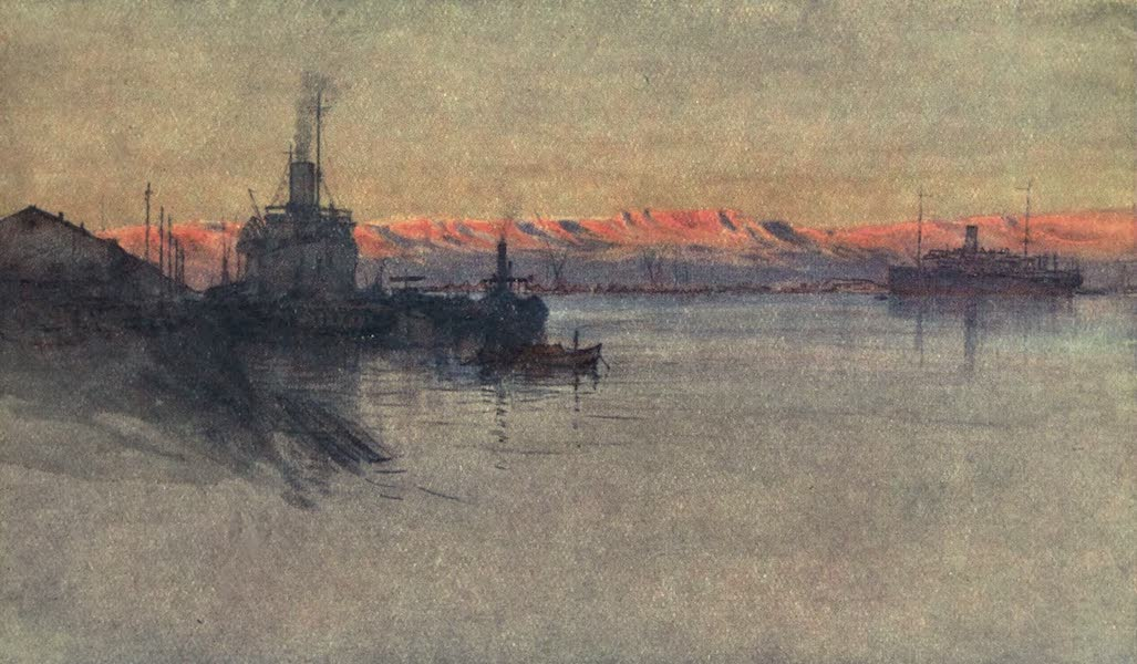 The Naval Front - H.M. Transports Ekma and Elephanta at Suez (1920)