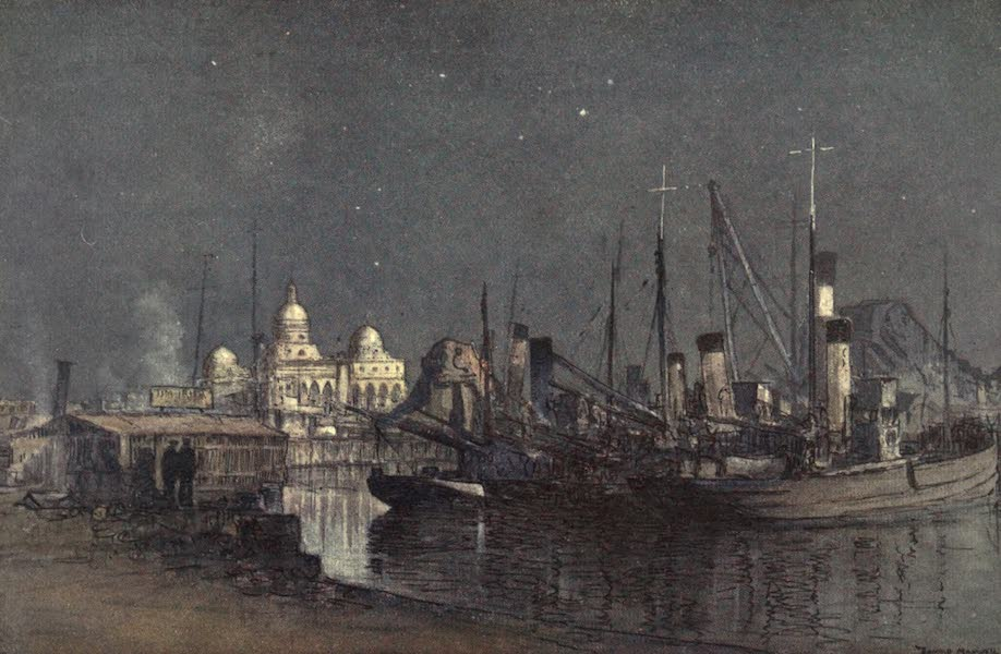 The Naval Front - A Bit of Yarmouth in the East : View from Quay at Navy House, Port Said (1920)