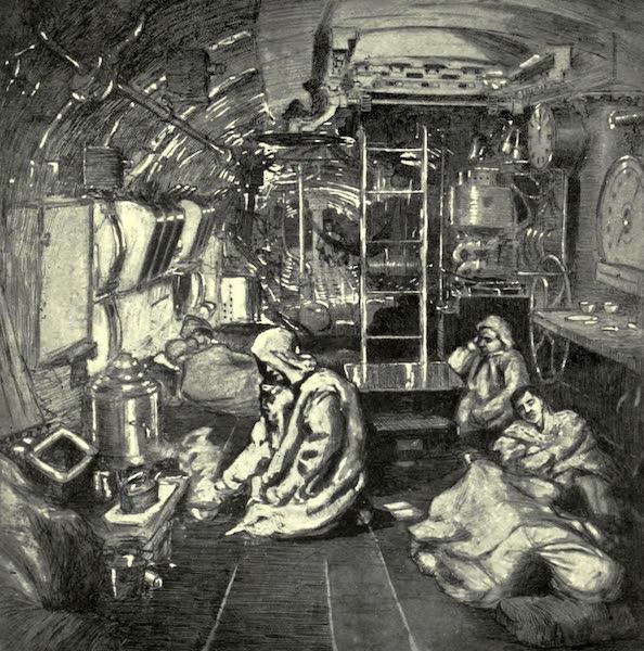 The Naval Front - Eight Bells, Midnight : Interior of a British Submarine (1920)
