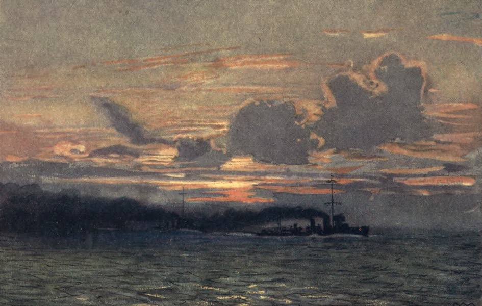 The Naval Front - Destroyers making a Smoke Screen (1920)
