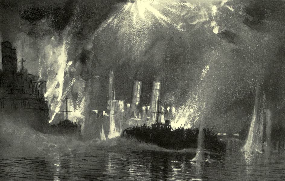 The Naval Front - Motor Launches rescuing Crews of the Blockships at Zeebrugge  (1920)