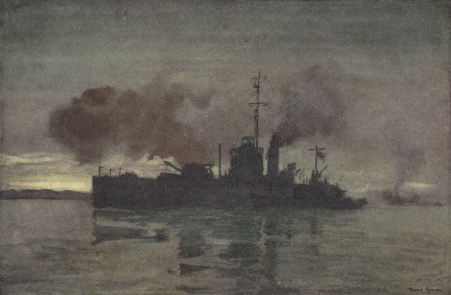 The Naval Front - Monitor M31 bombarding Gaza at Dawn (1920)