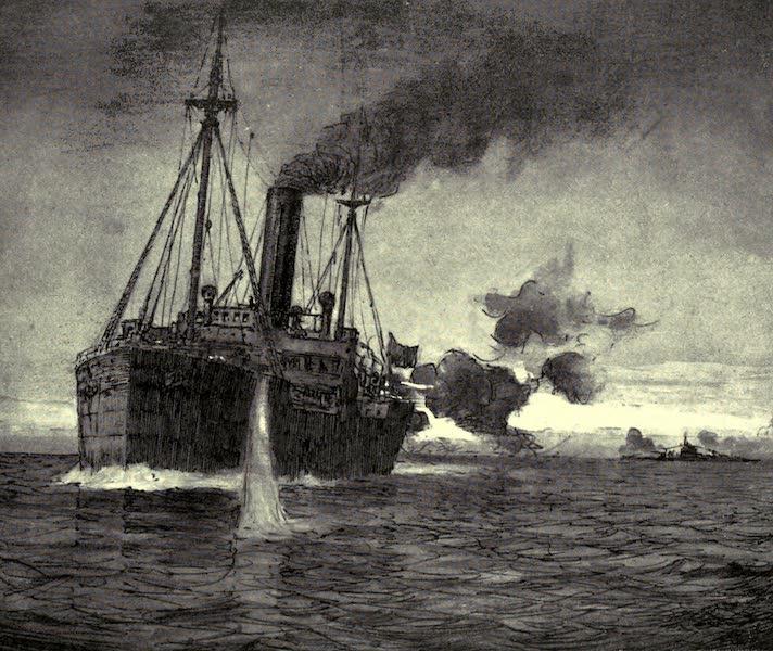 The Naval Front - Retaliation : Merchant Ship engaging a U-boat (1920)
