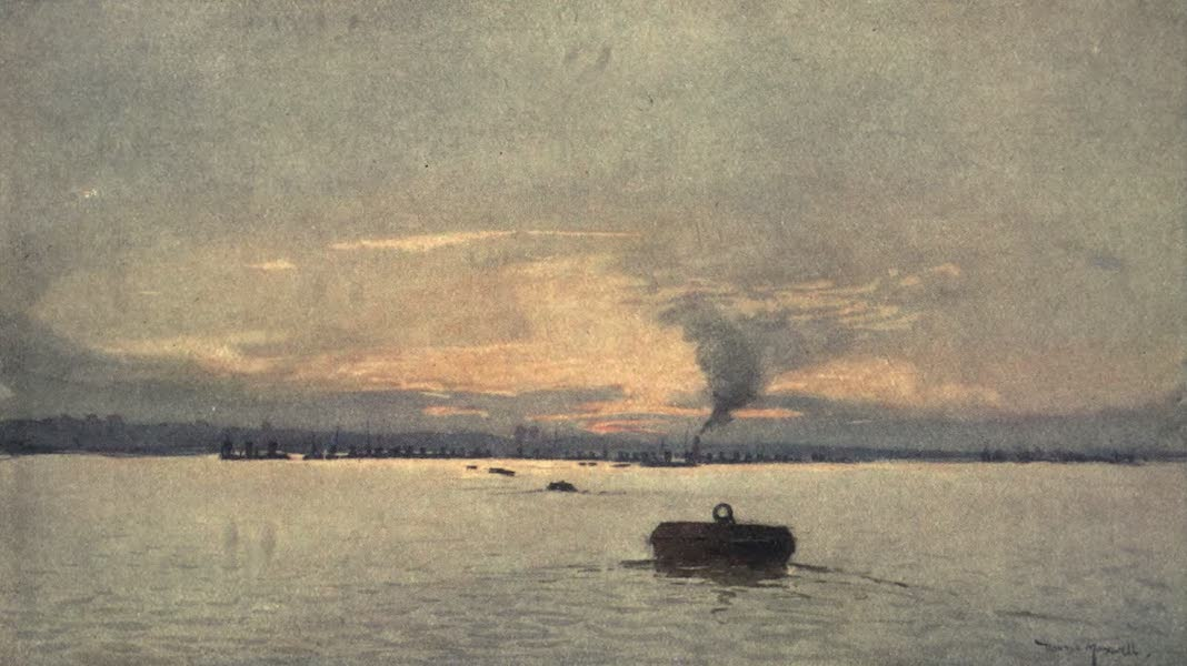 The Naval Front - U-Boat Avenue, Harwich : Evening (1920)
