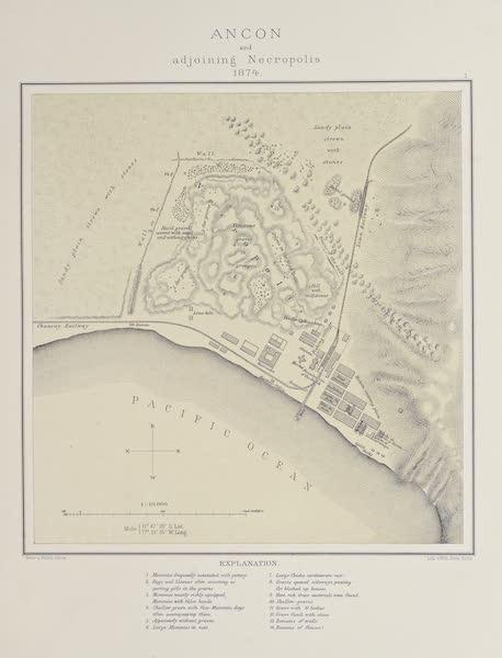 The Necropolis of Ancon Vol. 1 - Plan of Ancon and neighbouring Necropolis (1880)