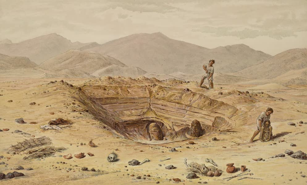 The Necropolis of Ancon Vol. 1 - Exposed graves with Mummies of simple type (1880)