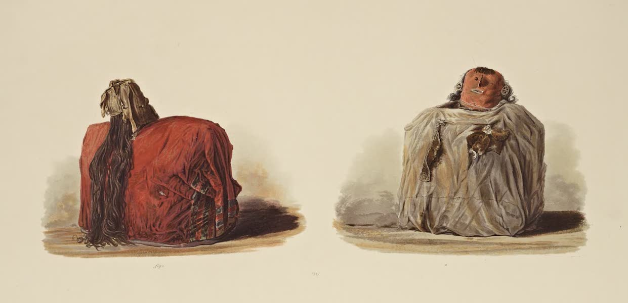 The Necropolis of Ancon Vol. 1 - Mummies with wig and ear ornaments (1880)