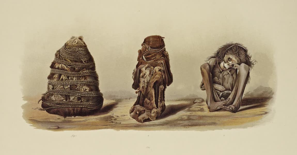 The Necropolis of Ancon Vol. 1 - Method of packing the false-headed Mummies (1880)