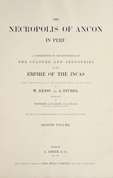 The Necropolis of Ancon Vol. 2 - Title Page (1880)