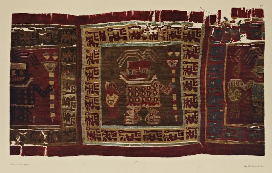 The Necropolis of Ancon Vol. 2 - Tapestry with figures of Warriors (1880)