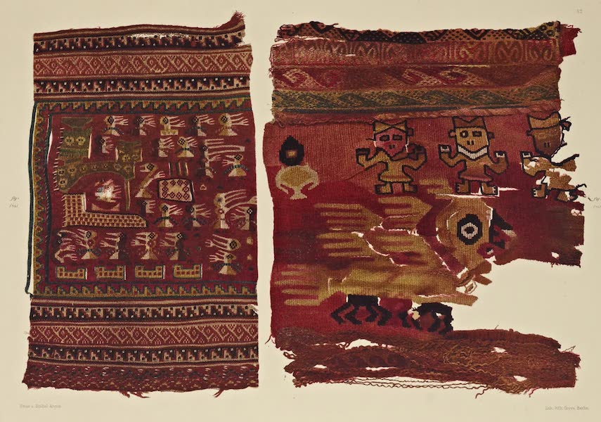The Necropolis of Ancon Vol. 2 - Gobelins Fabrics with Human and Animal figures — Portions of Woollen Garments (1880)
